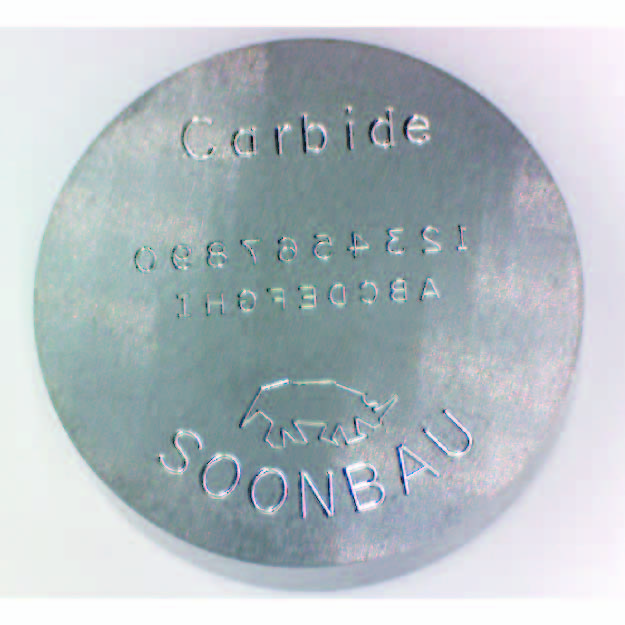Tungsten Carbide Header Punch with Concave Marking